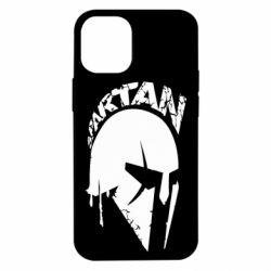 Чехол для iPhone 12 mini Spartan minimalistic helmet