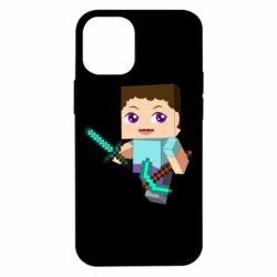 Чехол для iPhone 12 mini Steve minecraft
