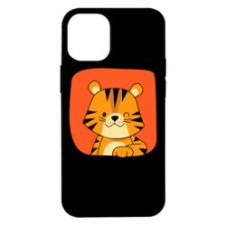 Чехол для iPhone 12 mini Striped tiger with smile