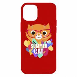 Чехол для iPhone 12 mini Summer cat