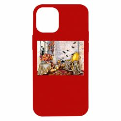 Чохол для iPhone 12 mini The atmosphere of Halloween in the house