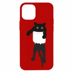 Чехол для iPhone 12 mini The cat tore the pocket