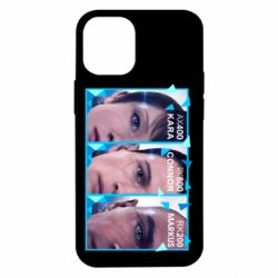 Чохол для iPhone 12 mini The faces of androids game Detroit: Become human