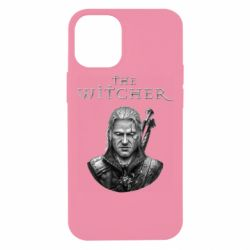 Чехол для iPhone 12 mini The witcher art black and gray