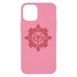 Чохол для iPhone 12 mini The Witcher Wolf and Pattern