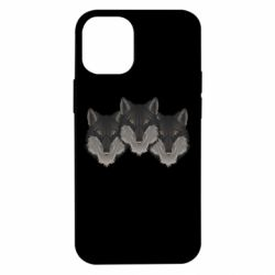 Чехол для iPhone 12 mini Three wolf heads