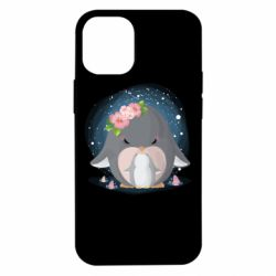 Чехол для iPhone 12 mini Two cute penguins