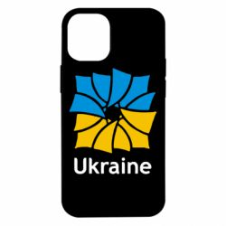 Чехол для iPhone 12 mini Ukraine квадратний прапор