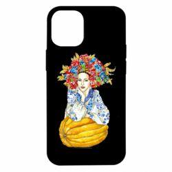 Чохол для iPhone 12 mini Українка в вінку і вишиванці