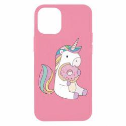 Чехол для iPhone 12 mini Unicorn and cake