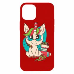 Чехол для iPhone 12 mini Unicorn Christmas