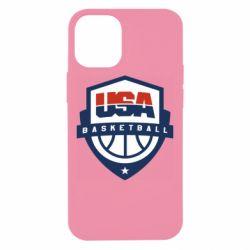 Чехол для iPhone 12 mini USA basketball