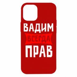 Чехол для iPhone 12 mini Вадим всегда прав