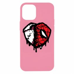 Чехол для iPhone 12 mini Venom and spiderman