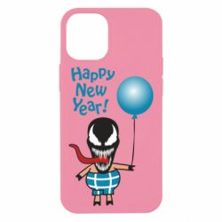 Чохол для iPhone 12 mini Venom pig with a ball wishes a happy new year