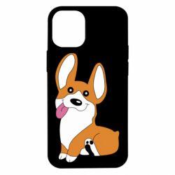 Чехол для iPhone 12 mini Веселый корги