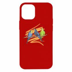 Чехол для iPhone 12 mini Волнистые попугайчики