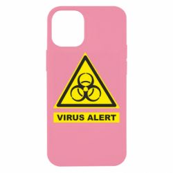 Чехол для iPhone 12 mini Warning Virus alers