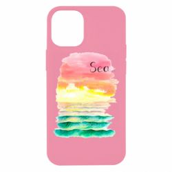 Чехол для iPhone 12 mini Watercolor pattern with sea