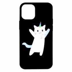 Чохол для iPhone 12 mini White cheerful cat
