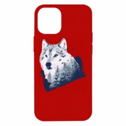 Чехол для iPhone 12 mini Wolf and forest