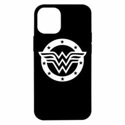 Чехол для iPhone 12 mini Wonder woman logo and stars