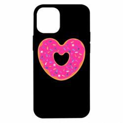 Чехол для iPhone 12 mini Я люблю пончик