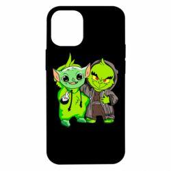 Чехол для iPhone 12 mini Yoda and Grinch