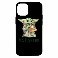 Чехол для iPhone 12 mini Yoda and pizza