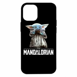 Чехол для iPhone 12 mini Yoda with a cup