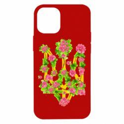Чохол для iPhone 12 mini Жовтий герб України в кольорах