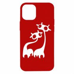 Чехол для iPhone 12 mini Жирафы