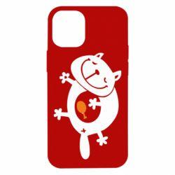 Чехол для iPhone 12 mini Жирный кот