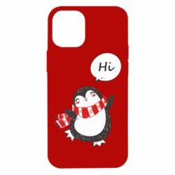 Чохол для iPhone 12 mini Зимовий пингвинчик