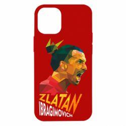 Чехол для iPhone 12 mini Златан Ибрагимович, полигональный портрет