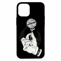 Чехол для iPhone 12 mini Zombie hand with flower planet on a crescent background