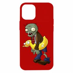 Чехол для iPhone 12 mini Zombie with a duck