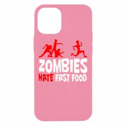 Чохол для iPhone 12 mini Zombies hate fast food