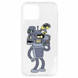 Чохол для iPhone 12 Pro Bender and the heads of robots