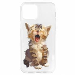 Чохол для iPhone 12 Pro Cute kitten vector