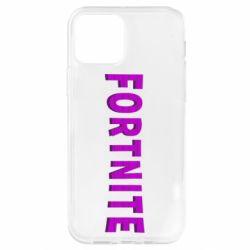 Чохол для iPhone 12 Pro Fortnite purple logo text