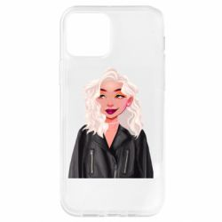Чохол для iPhone 12 Pro Girl in a leather jacket