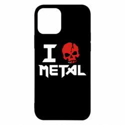 Чехол для iPhone 12 Pro I love metal
