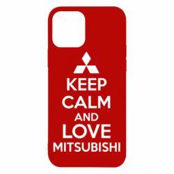 Чехол для iPhone 12 Pro Keep calm an love mitsubishi