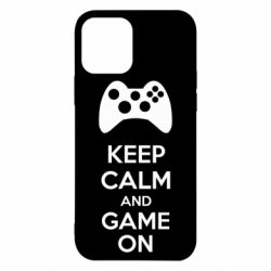 Чехол для iPhone 12 Pro KEEP CALM and GAME ON