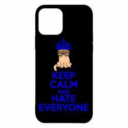 Чехол для iPhone 12 Pro KEEP CALM and HATE EVERYONE