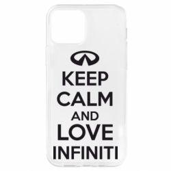 Чехол для iPhone 12 Pro KEEP CALM and LOVE INFINITI