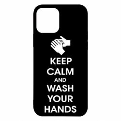 Чохол для iPhone 12 Pro Keep calm and wash your hands