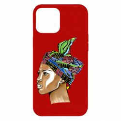 Чохол для iPhone 12 Pro Max African girl in a color scarf
