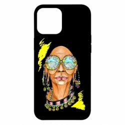 Чехол для iPhone 12 Pro Max African hippie woman in blue glasses